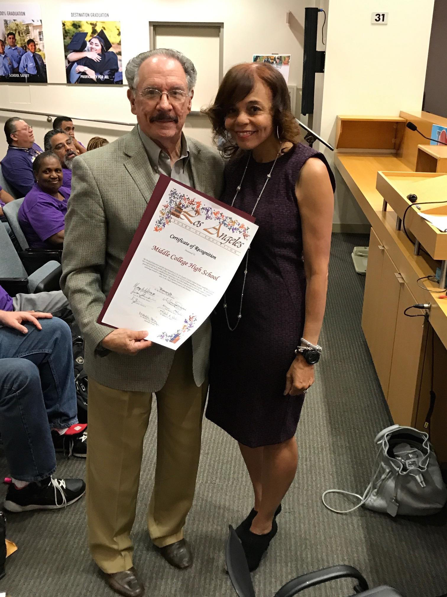 LAUSD Board honors MCHS!