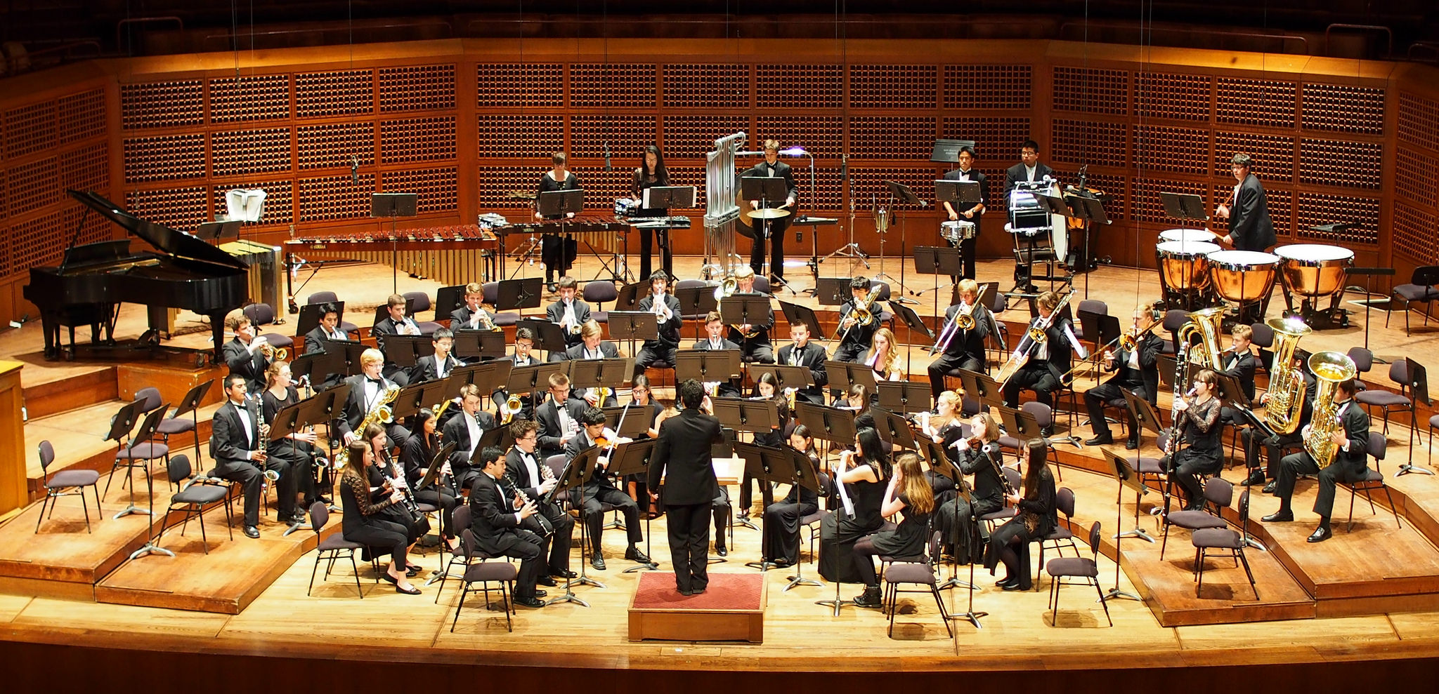 band at Davies Hall