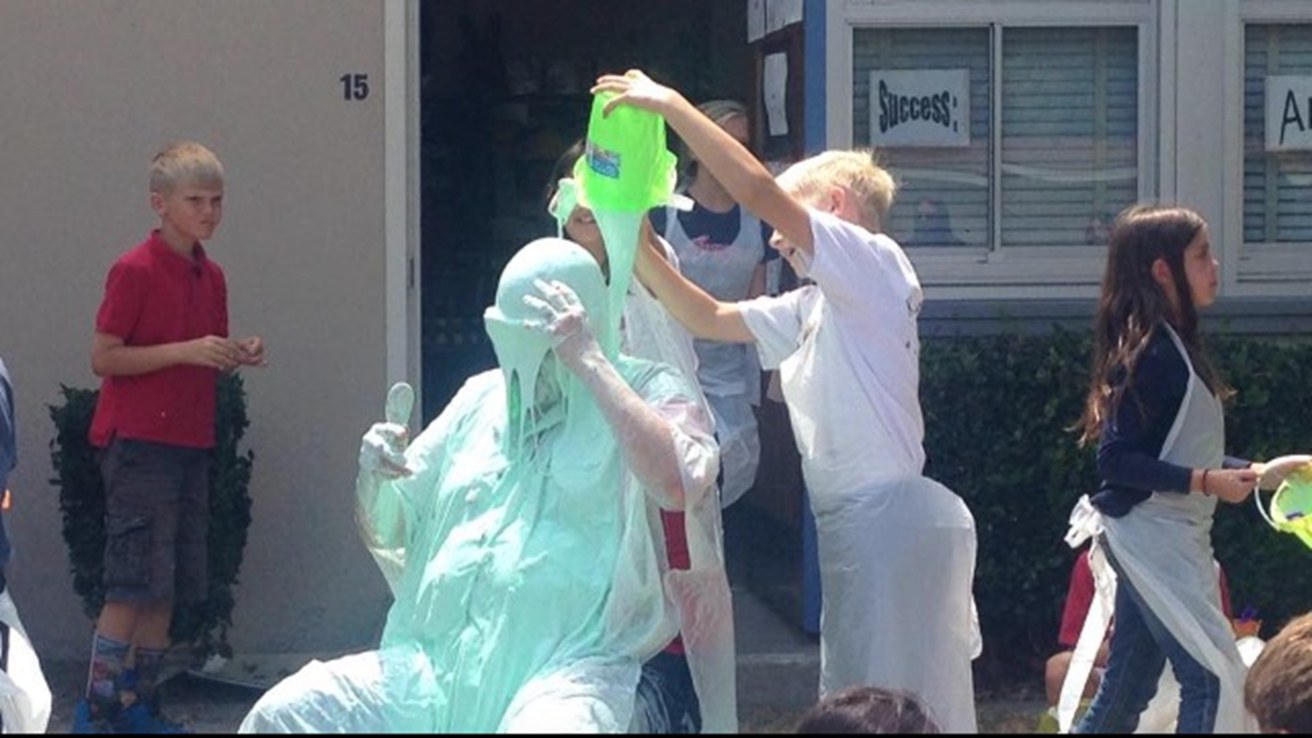 Mr. Sarabia getting slimed! You can do this too!