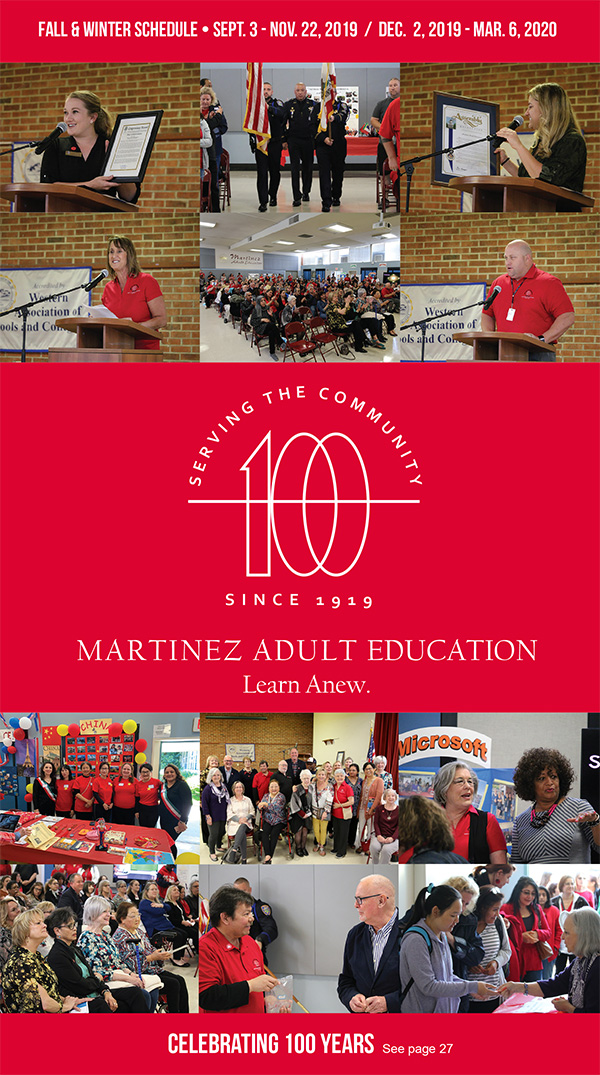 Fall 2019 Martinez Adult Education Brochure