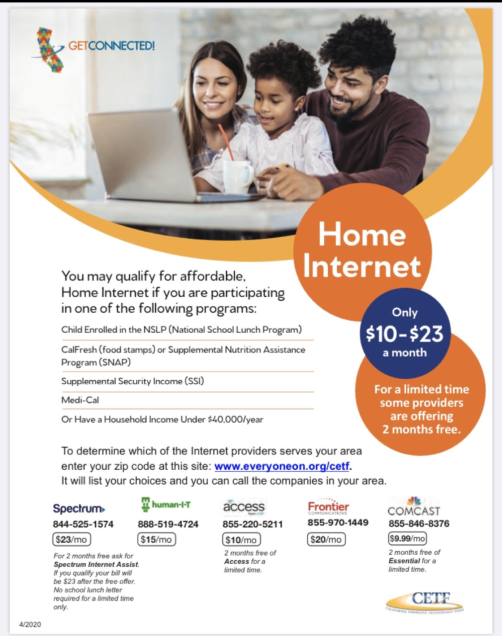 home internet by getconnected ad in english