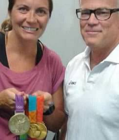 Mr. Riva & Misty May 3 Gold Olympic Medals