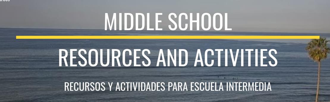 Middle School Resources and Activities
