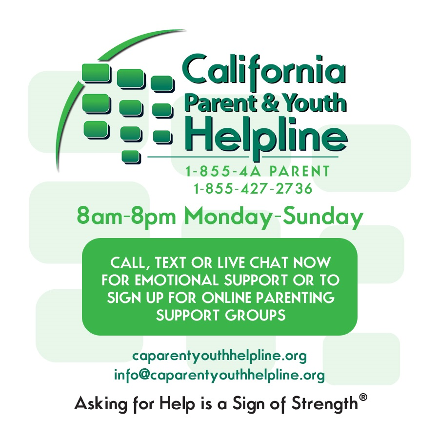 Califonia Parent and Youth Helpline