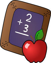 Blackboard and apple