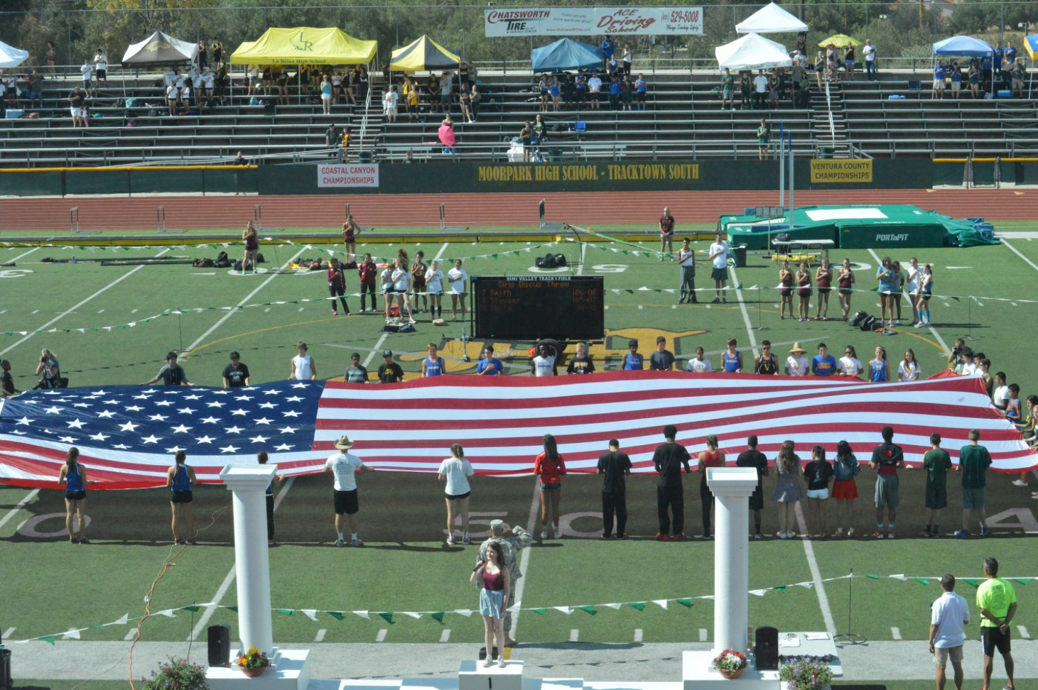 Track with Flag