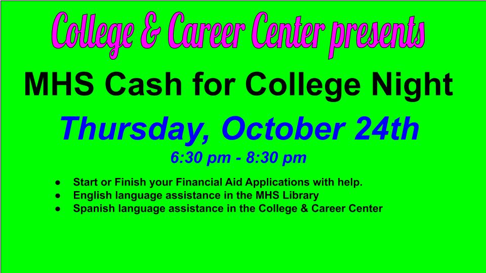 MHS Cash for College Night