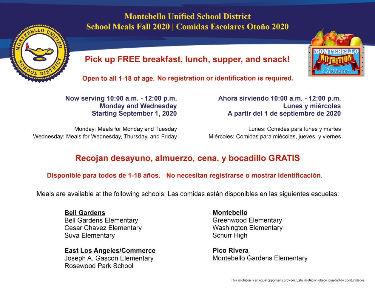 School Meals Flyer Sept 1