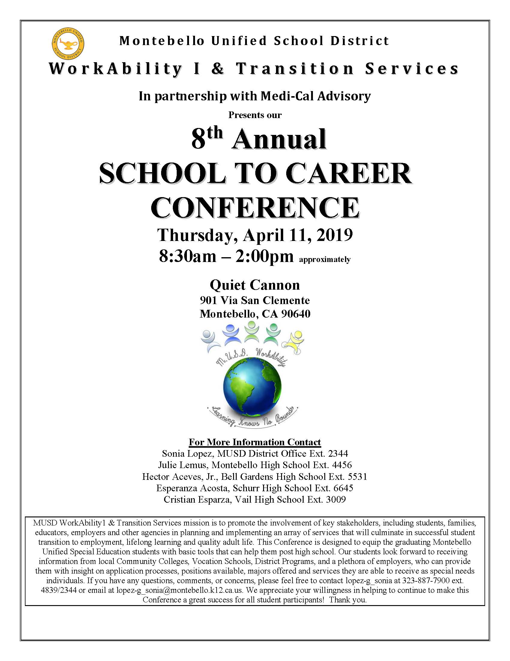 8th Annual School to Career Conference