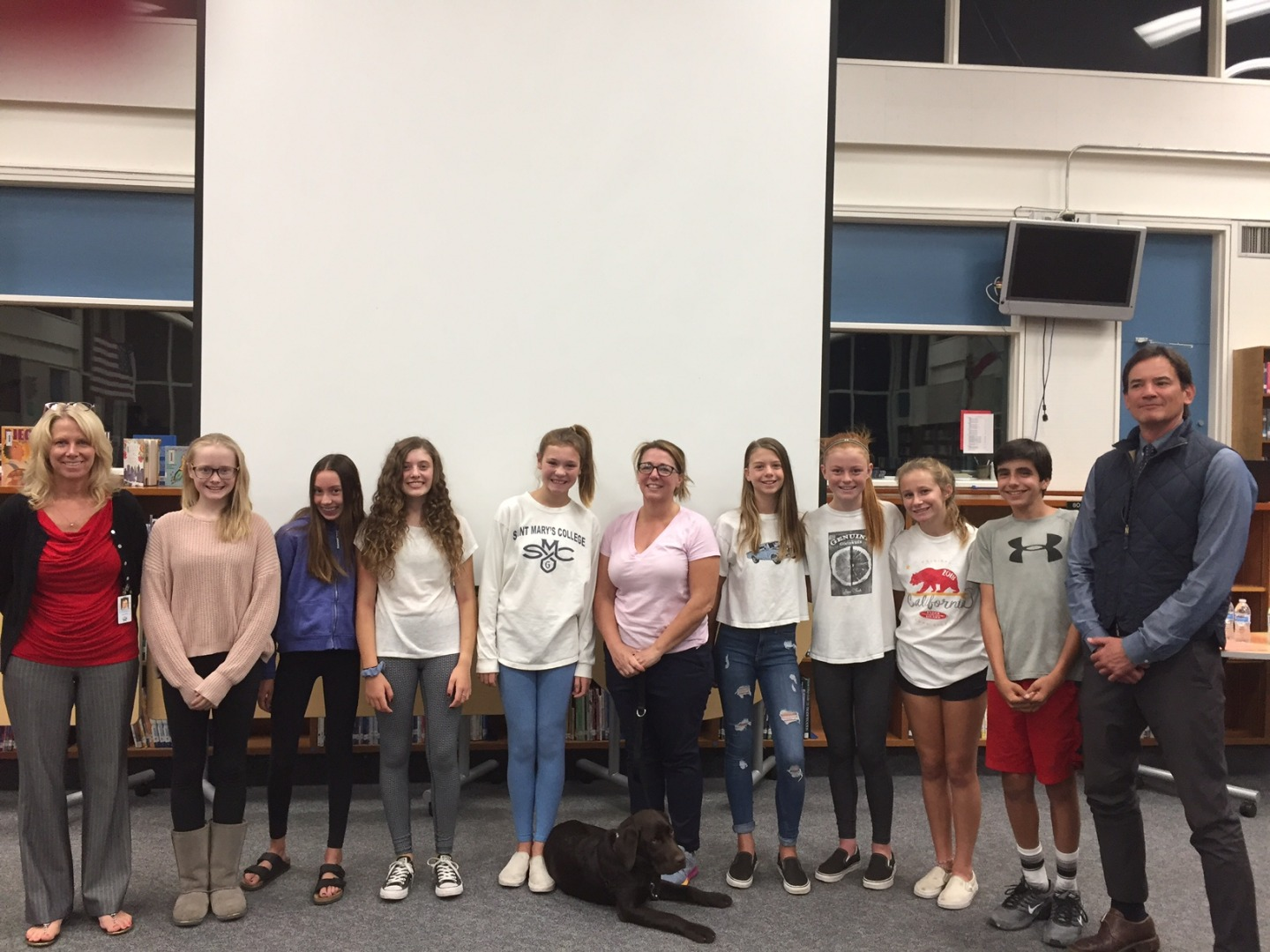 JM student introduce new therapy dog Huck