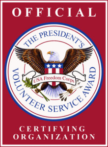 the presidential volunteer service award