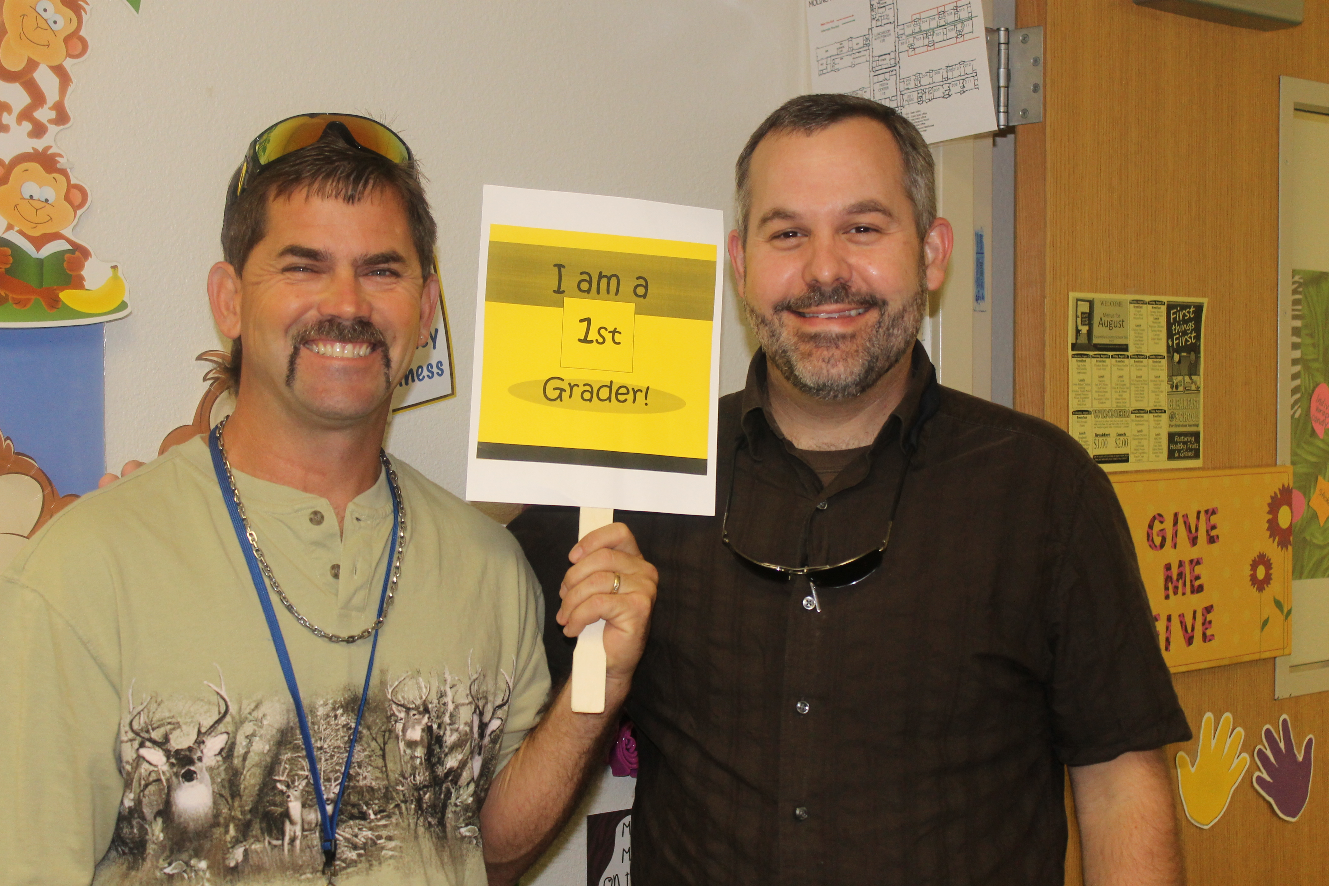 Big Shout out of THANKS to Mr. Calhoun and Mr. Bodiford for all their help in First Grade