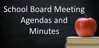 School board meeting agendas and minutes image