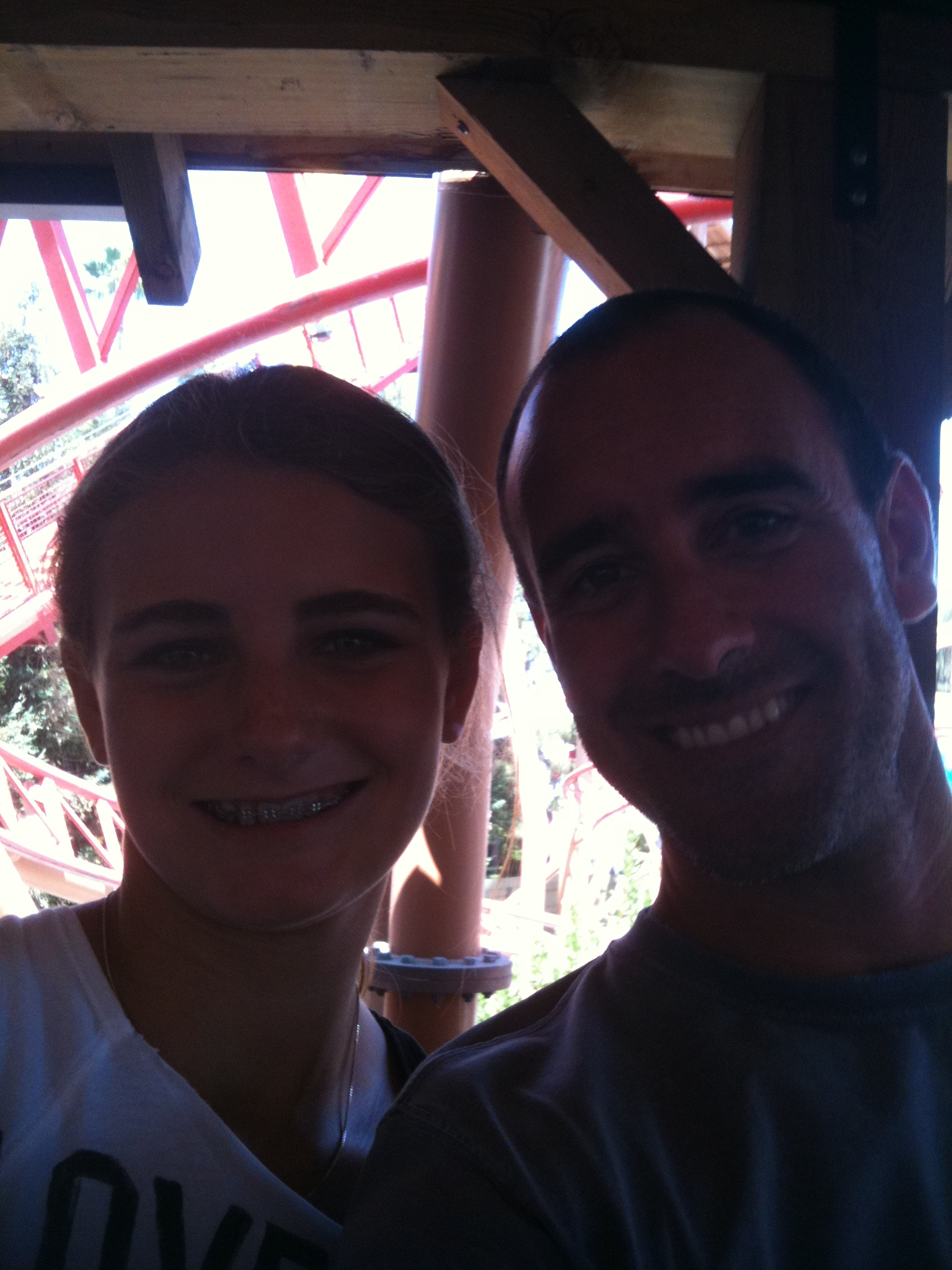 My daughter Julia and me at Knott's Berry Farm 2010