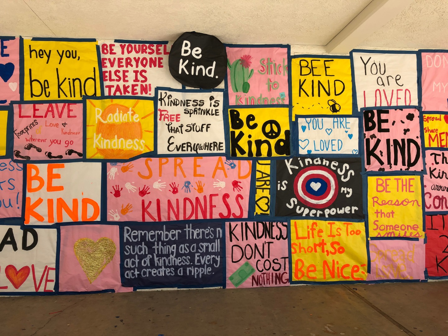 ASB Activities Poster Wall Kindness