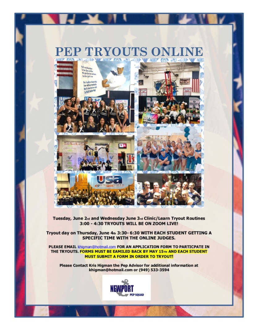 Pep Tryout Dates