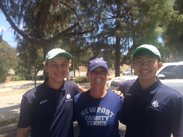 David Lee and Mark Schaefer compete at 2016 CIF Doubles Individuals