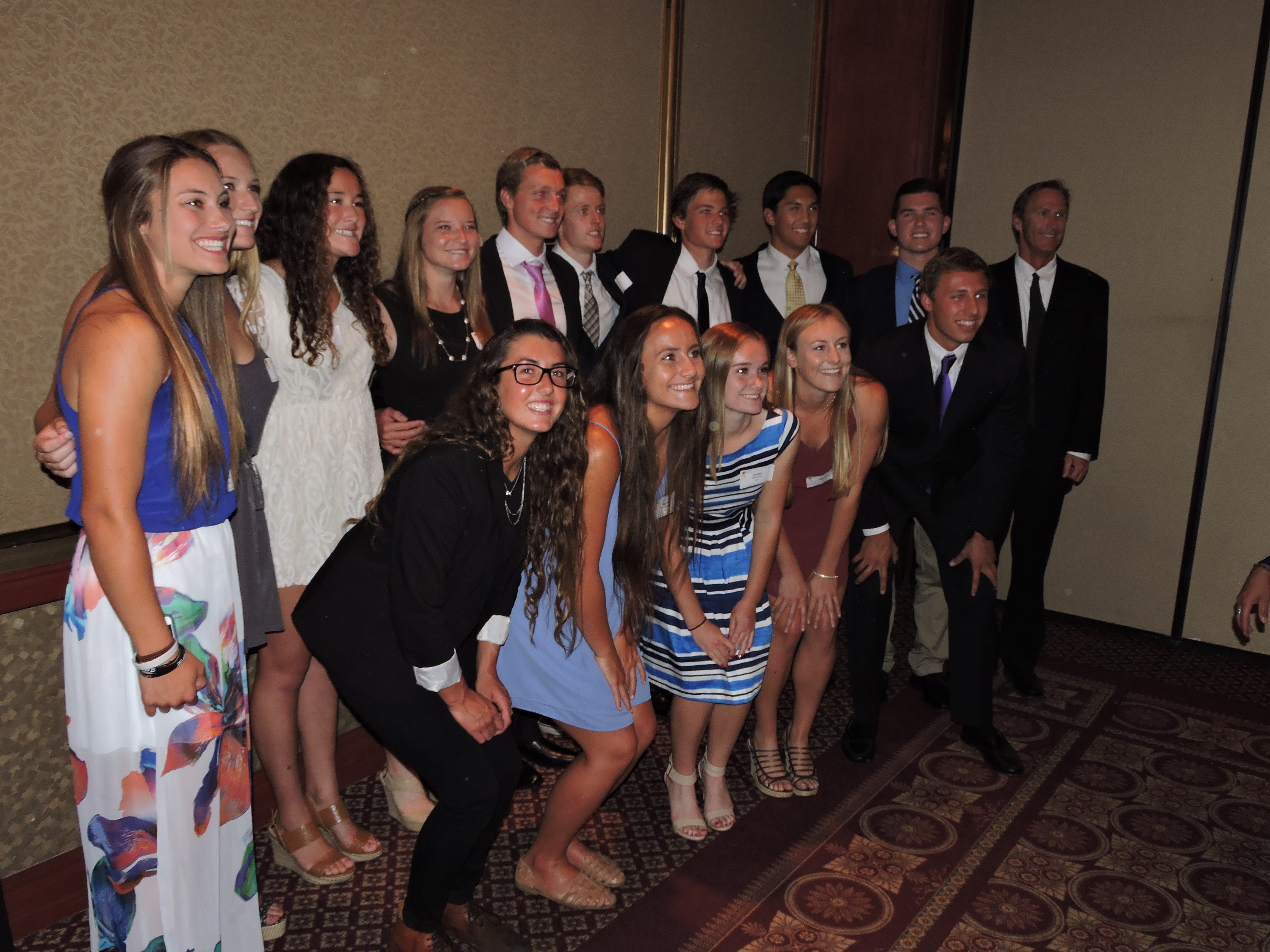 Reese Stalder honored as one of Newport-Mesa's top student-athletes pictured  with fellow NHHS athletes being honored