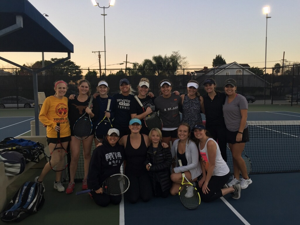 NHHS Girls Tennis Alumni return to the courts over the Holiday Break: SO GOOD  Sailors!