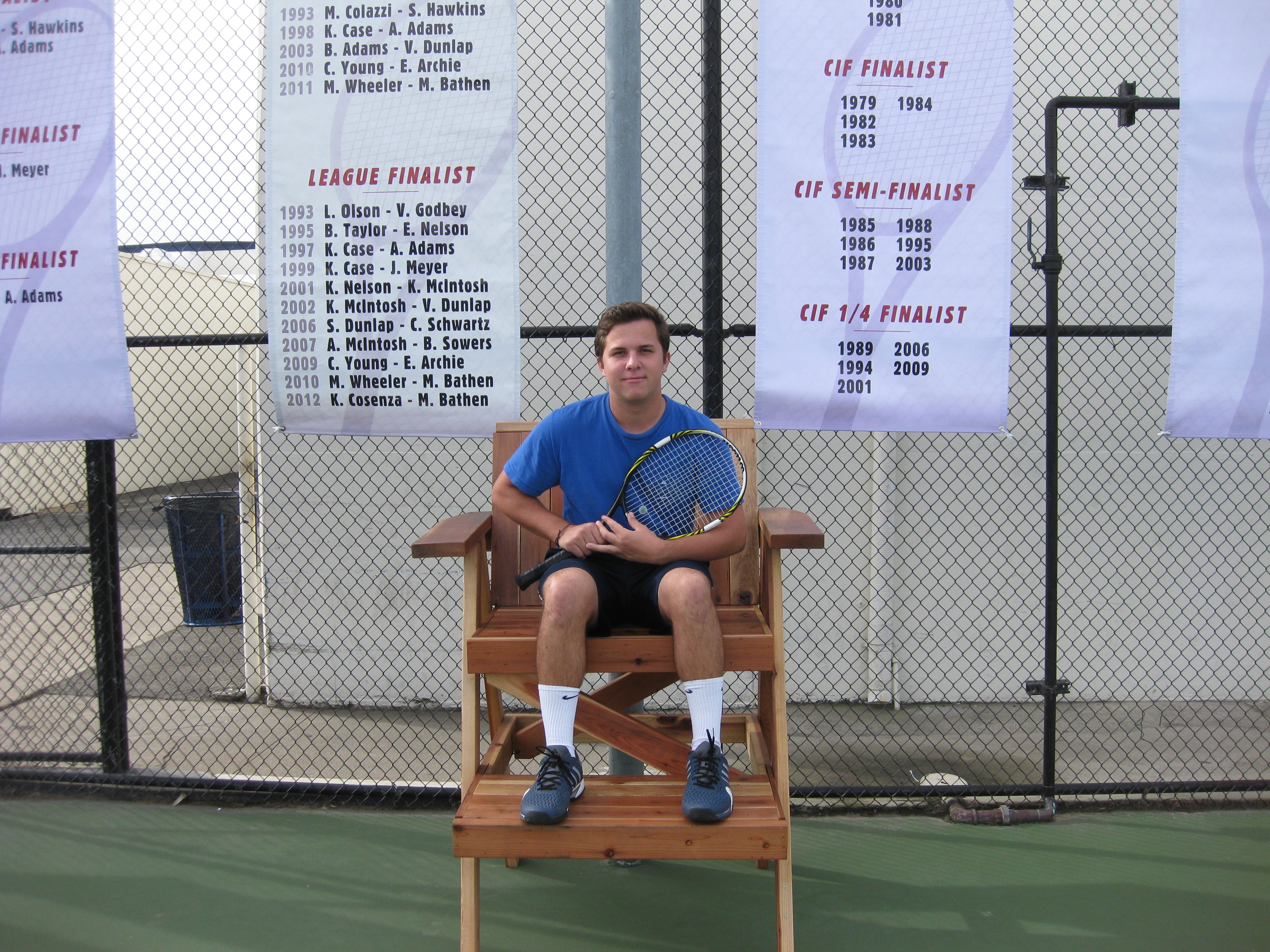 Thank you to senior David Schaefer on donating your hand-made tennis chairs to  the NH Tennis Program! And Congratulations on your Eagle Scout honors, we are  so proud of you!