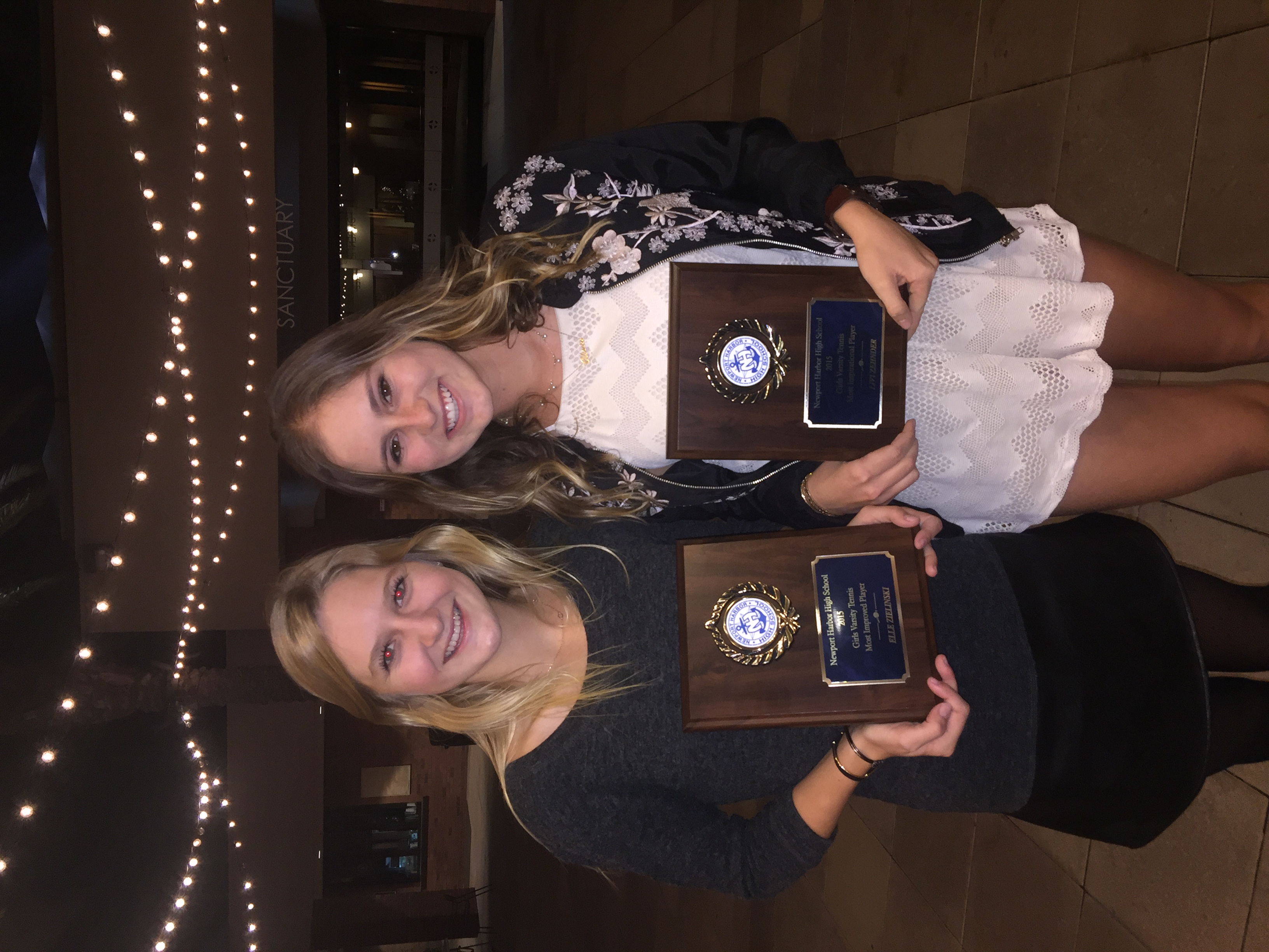 Congrats to senior doubles partners Elle Zielinski and Livi Zehnder (2015 Most  Improved and Most Inspirational)