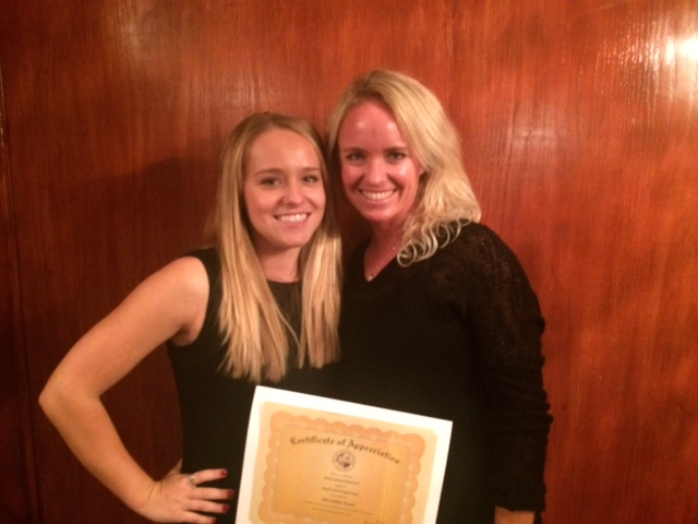 Anna Burke and Kendall Cosenza are honored as 2 of NHHS's top 15 2016  athletes… Congratulations Girls!