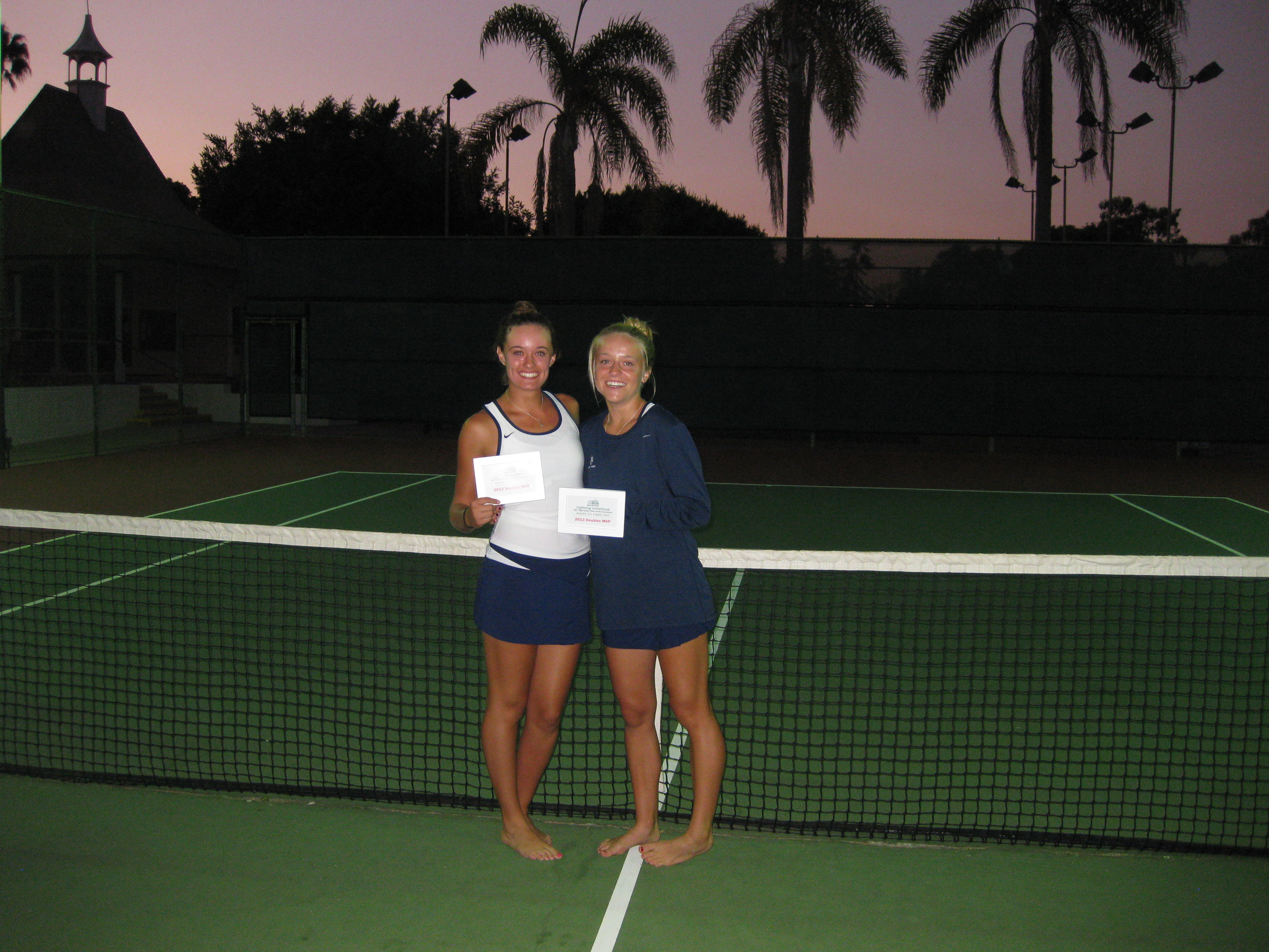 Tournament Doubles MVP's:  Anna Burke and Kendall Cosenza