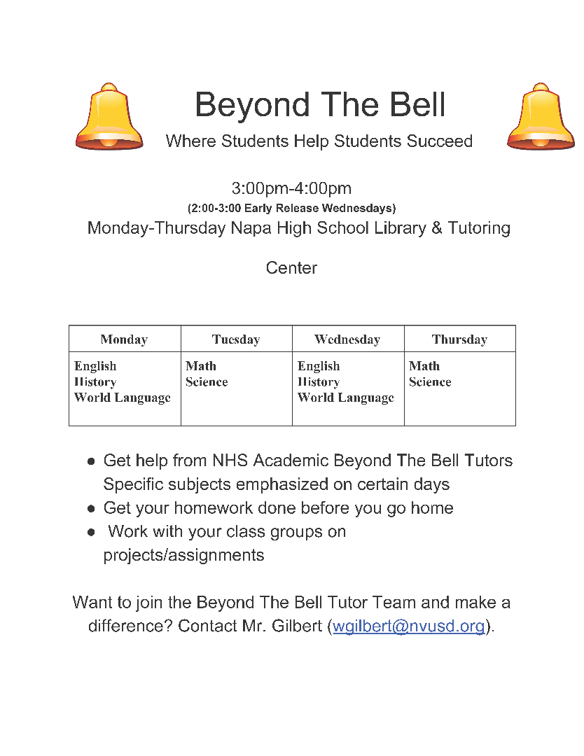 Beyond the Bell flyer English