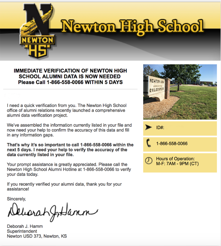 letter from Dr. Hamm