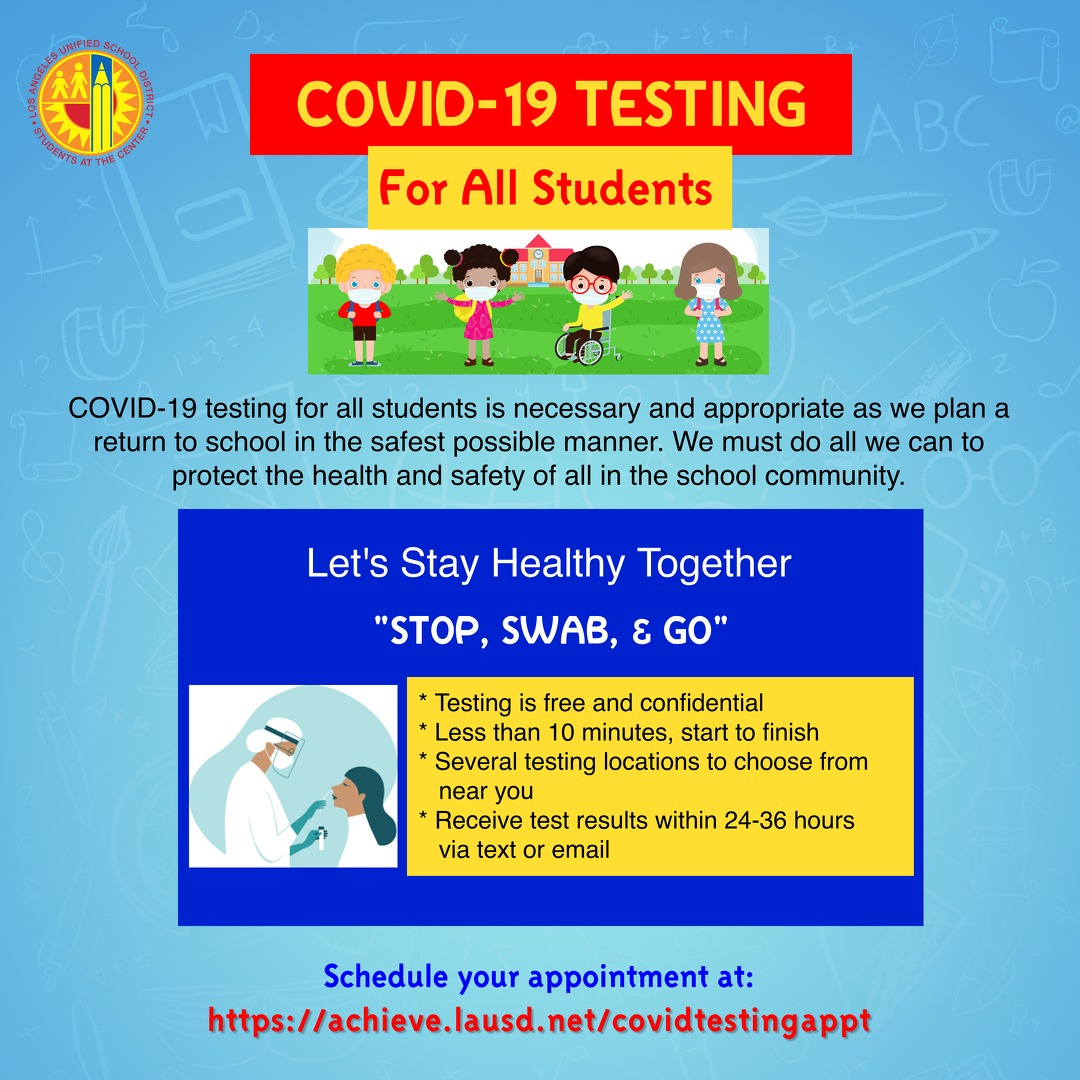 Covid Test Flyer