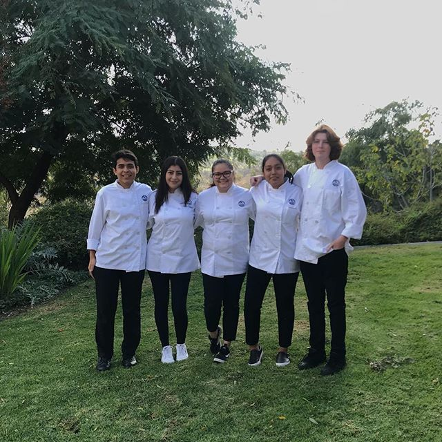 students in chef attire