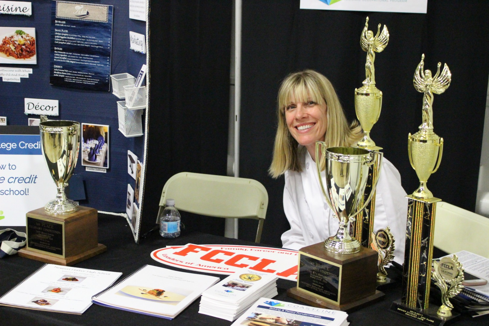 FCCLA booth with teacher