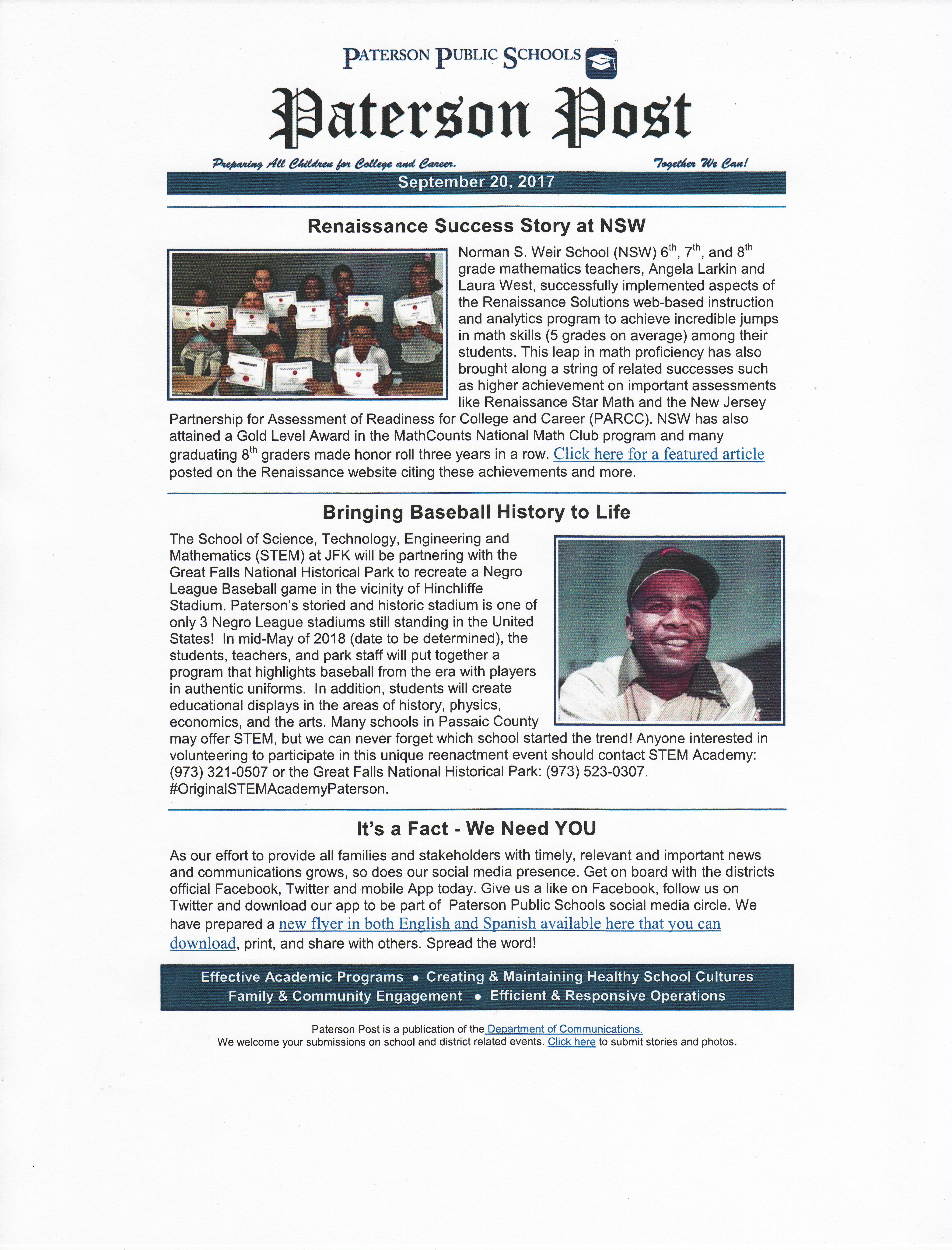 Norman S. Weir In Paterson Public School News