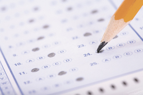 pencil and test form