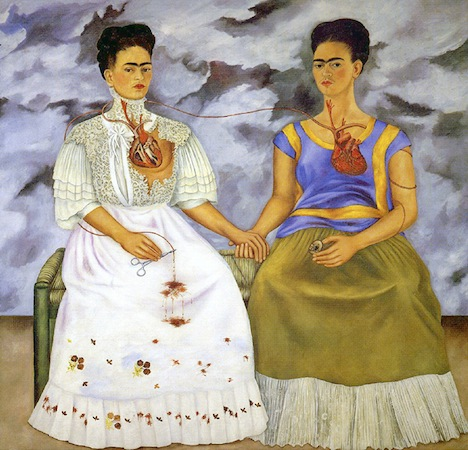 This one of my favorite paintings by the Mexican painter Friday Kahlo