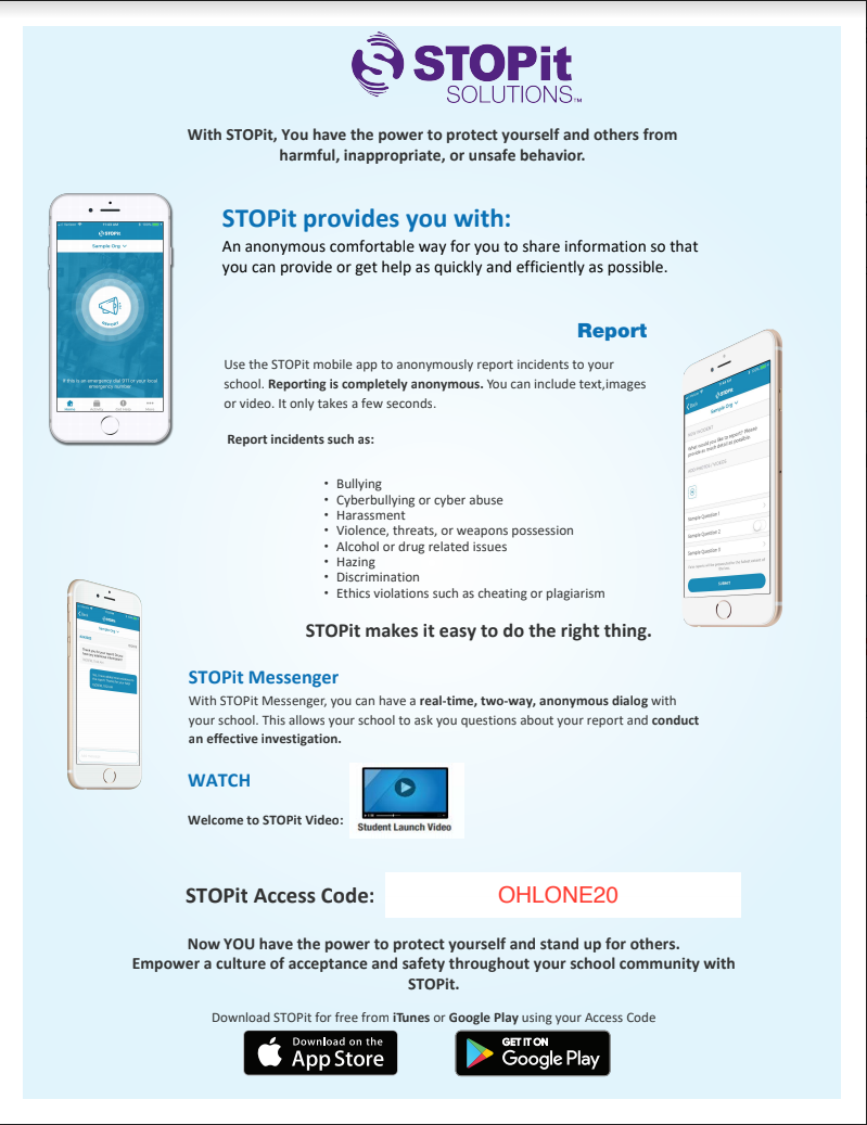 STOPit access code poster