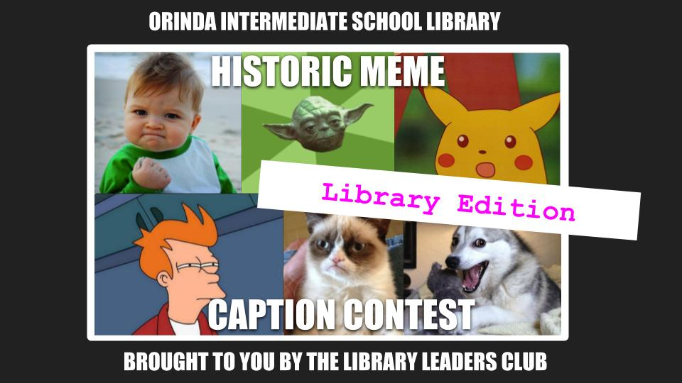 Library meme contest