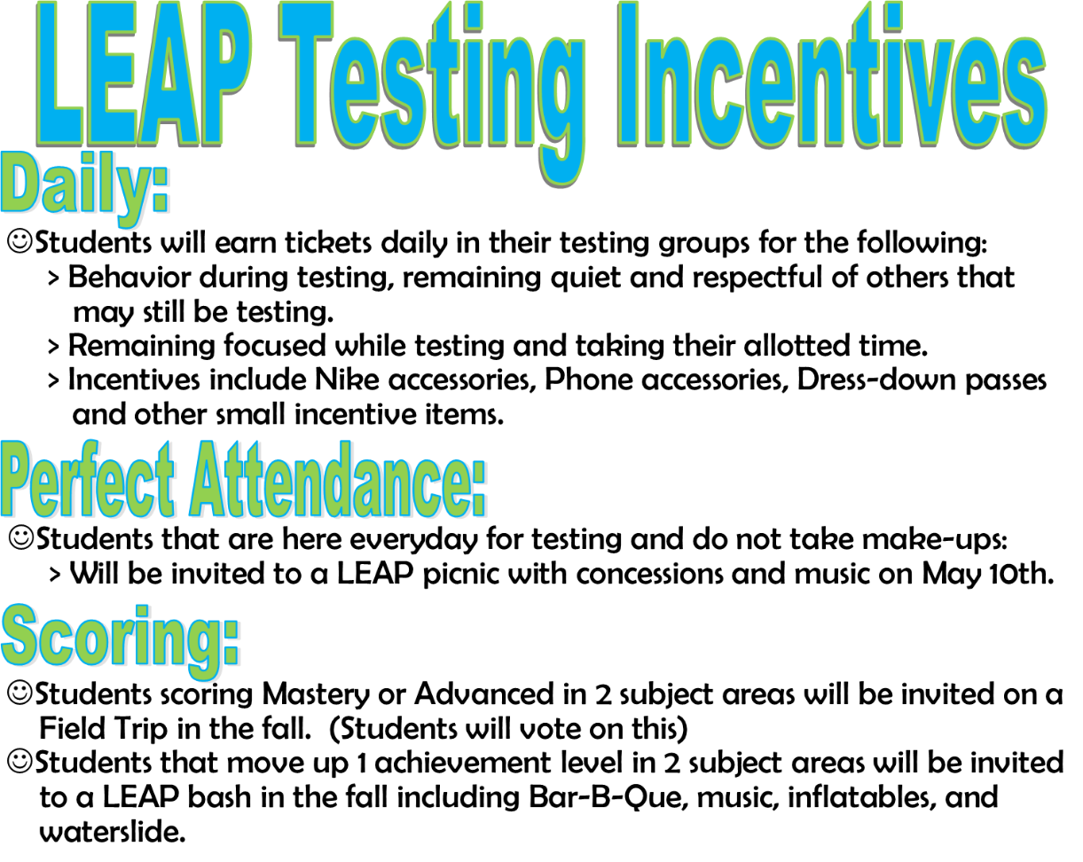 LEAP Testing Incentives