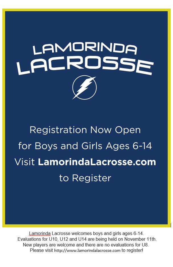 Lacrosse registration announcement