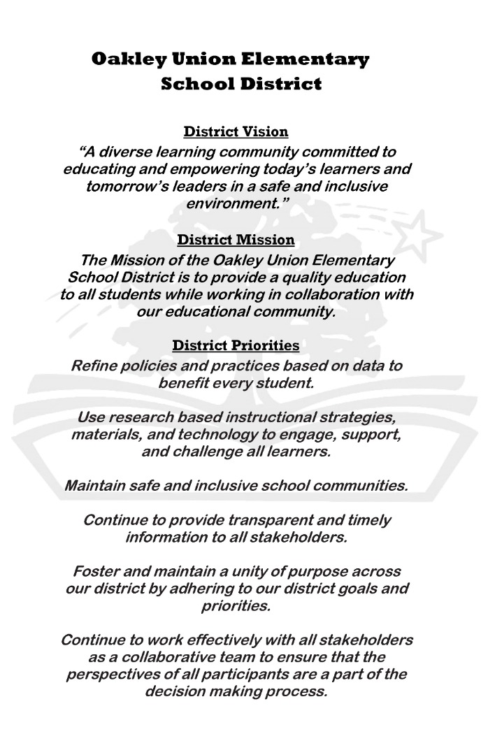 OUESD Vision Statement