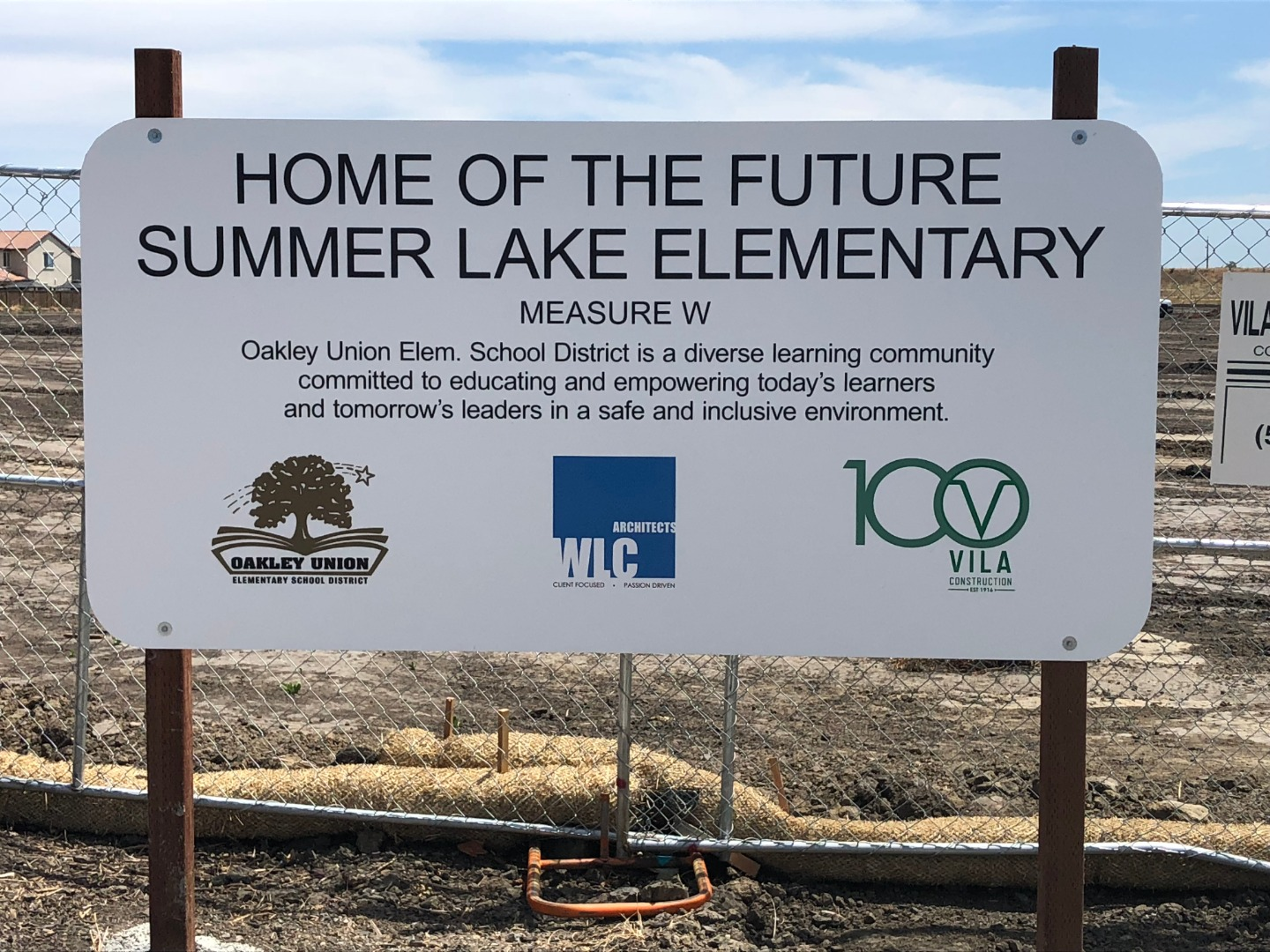 Home of Future Summer Lake Elementary Sign