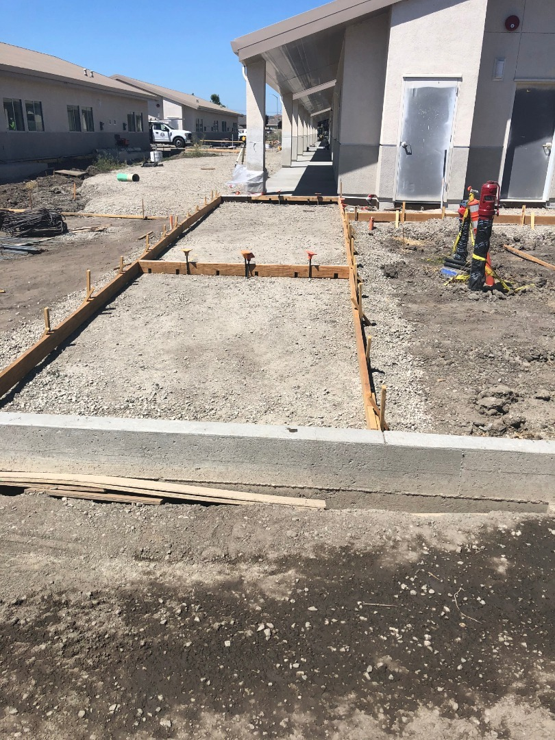 prepping walkway for concrete