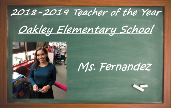 Ms. Fernandez, Teacher of the Year