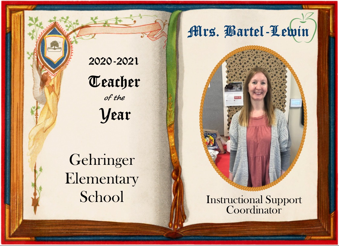 Mrs. Bartl-Lewin, Gehringer Teacher of the Year