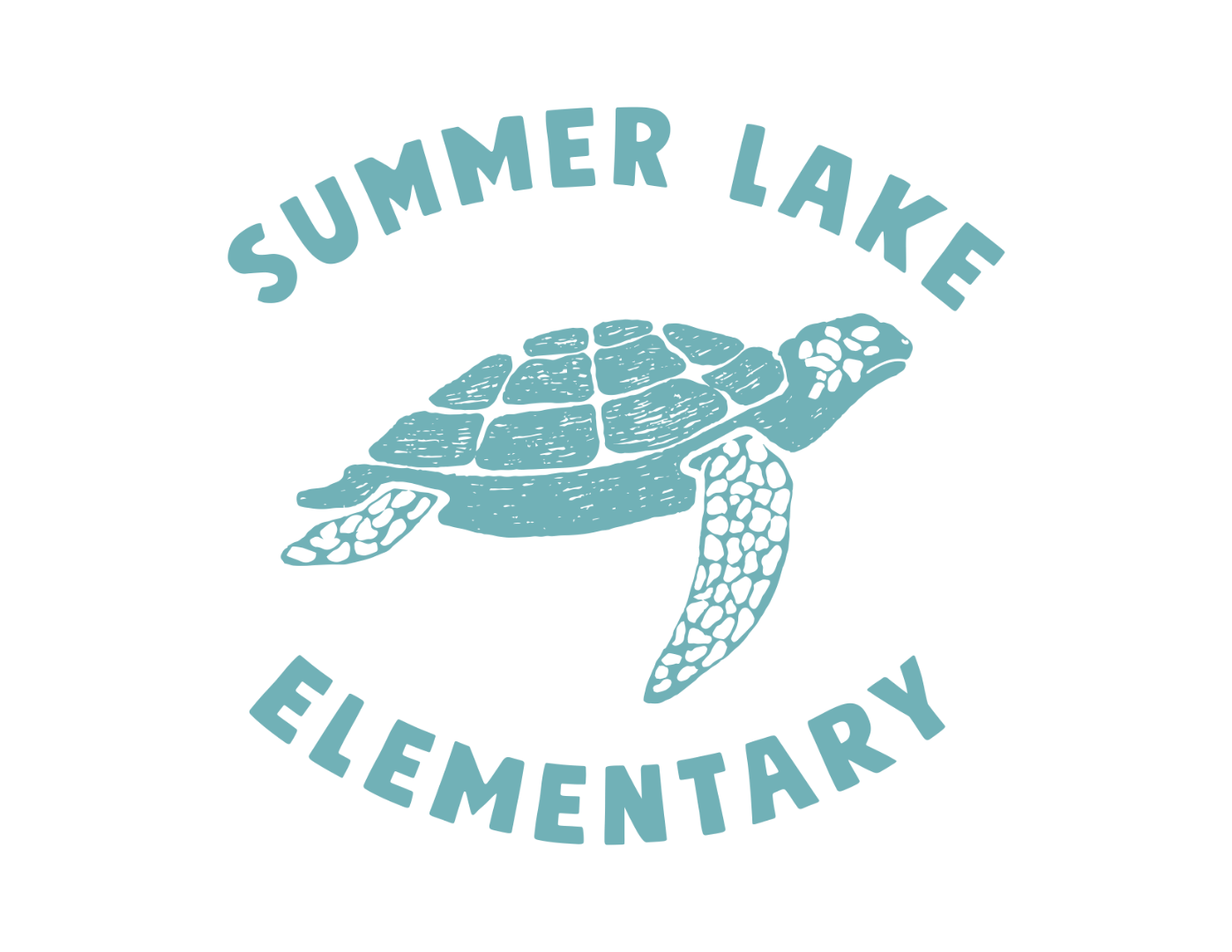 summer lake sea turtle logo