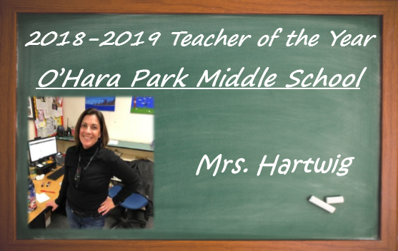 Mrs. Hartwig, teacher of the year
