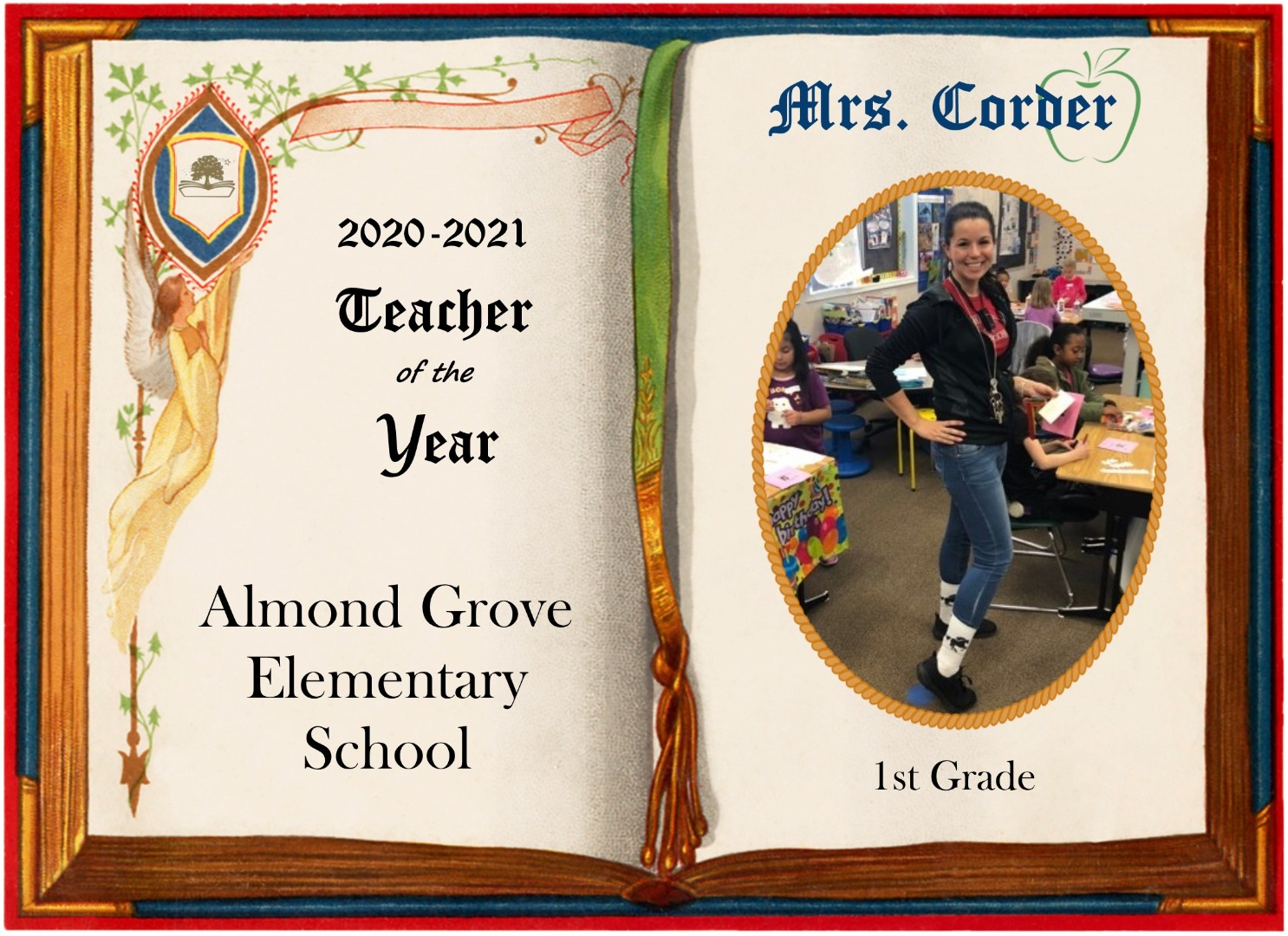 Mrs. Corder, 2020-2021 Almond Grove Teacher of the Year