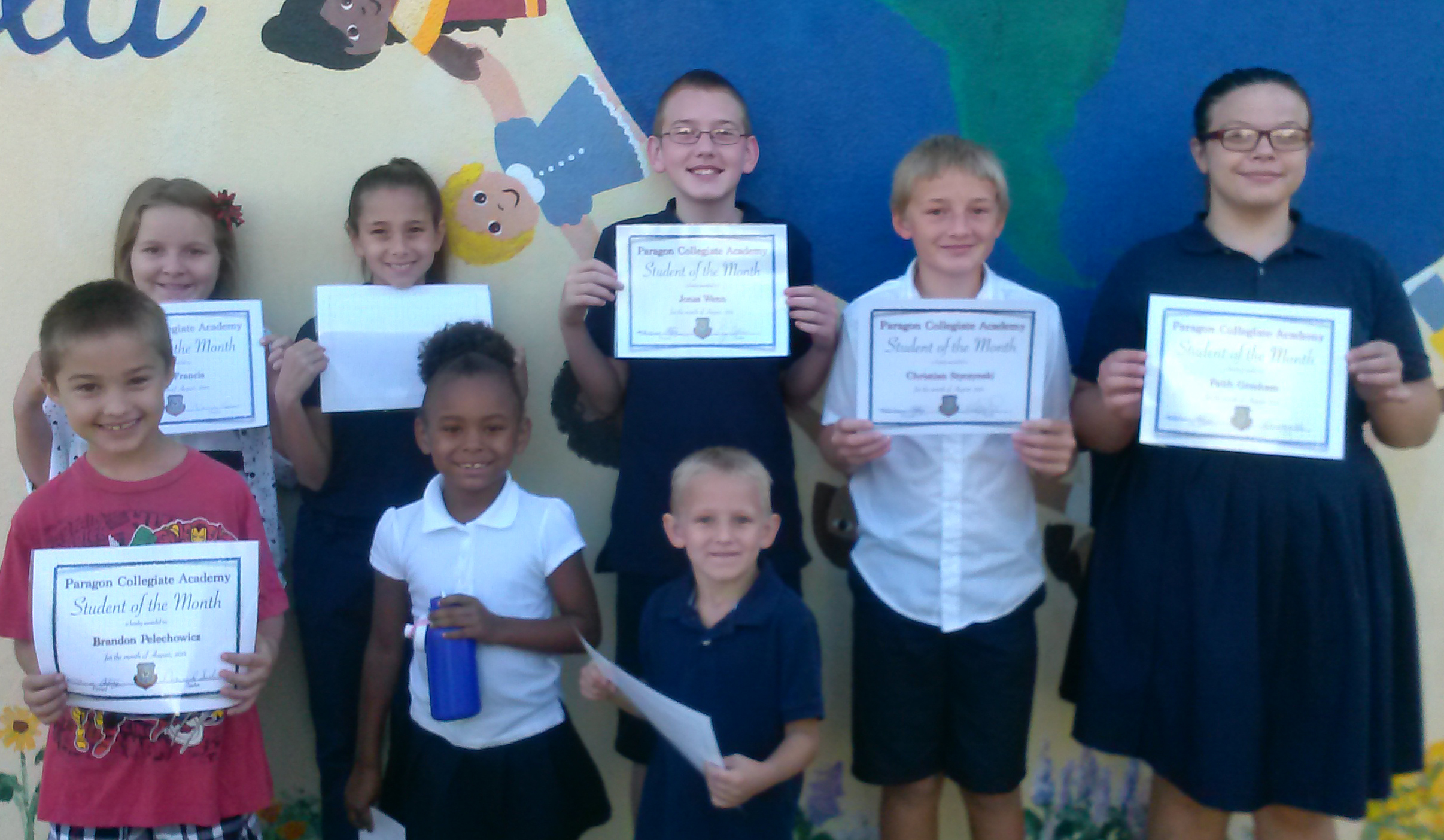 Students of the Month August 2014