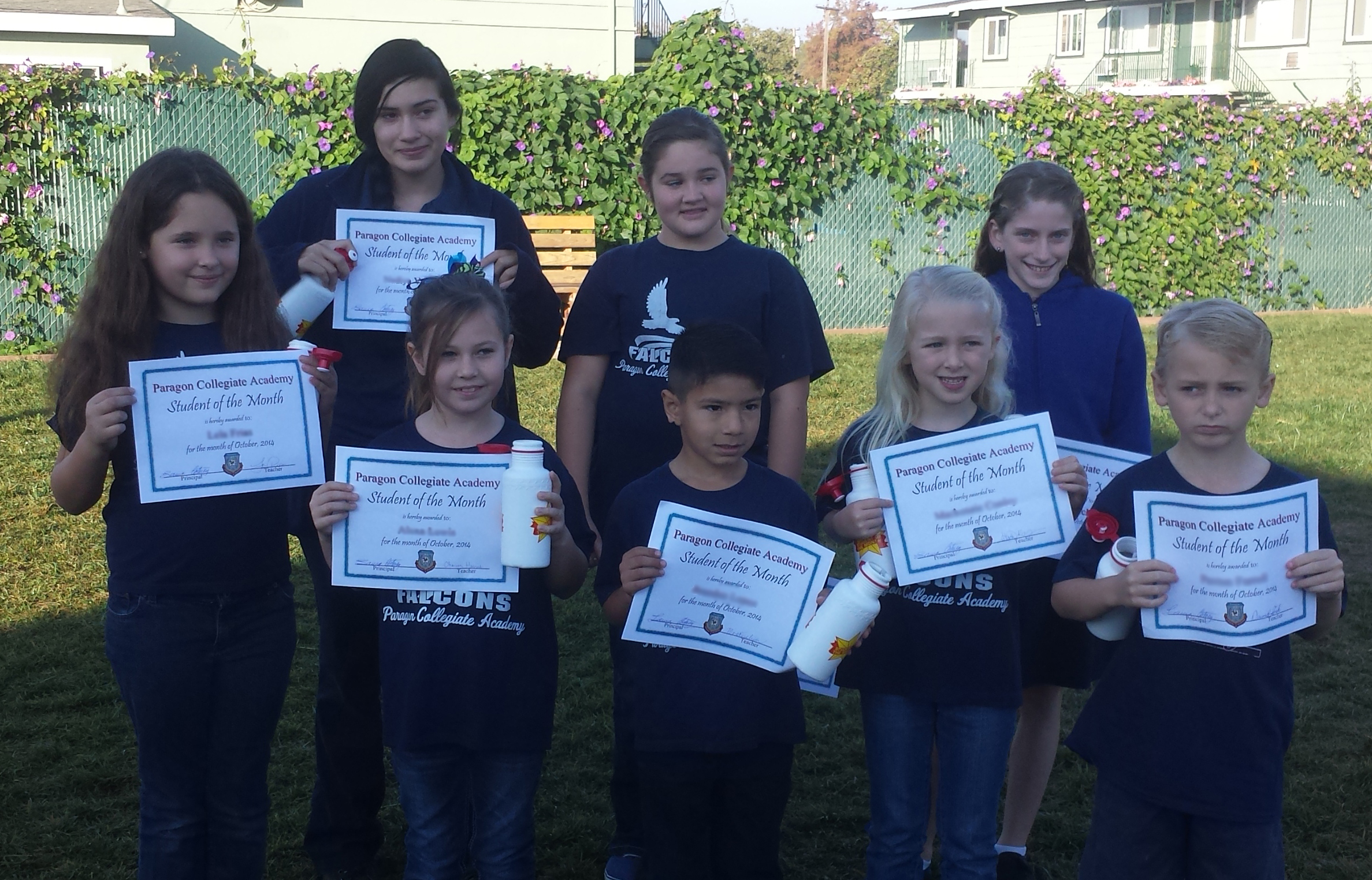 Students of the Month October 2014