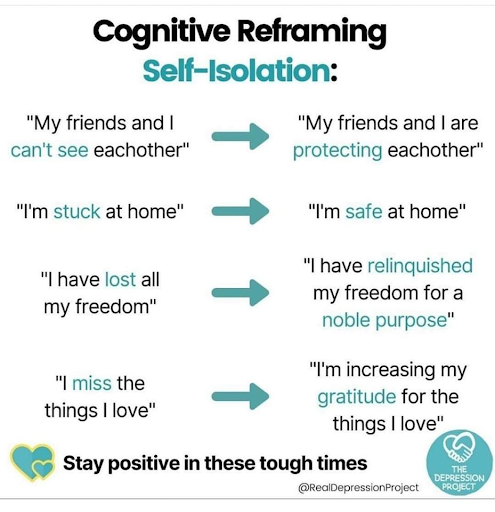 Cognitive Reframing Self-Isolation